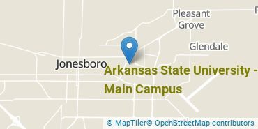 Location of Arkansas State University - Main Campus