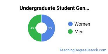 Undergraduate Student Gender Diversity at  GMU