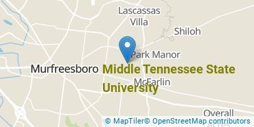 Location of Middle Tennessee State University