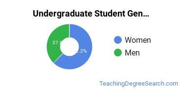Undergraduate Student Gender Diversity at  SLU