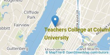 Location of Teachers College at Columbia University
