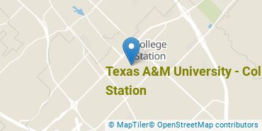 Location of Texas A&M University - College Station