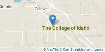 Location of The College of Idaho