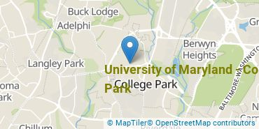Location of University of Maryland - College Park