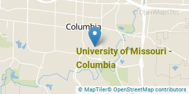 Location of University of Missouri - Columbia