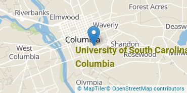 Location of University of South Carolina - Columbia