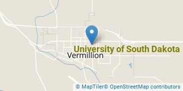 Location of University of South Dakota