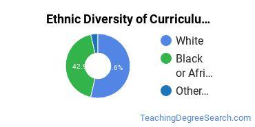 Curriculum & Instruction Majors in AL Ethnic Diversity Statistics