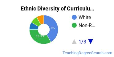 Curriculum & Instruction Majors in DC Ethnic Diversity Statistics