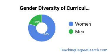 Curriculum & Instruction Majors in MA Gender Diversity Statistics