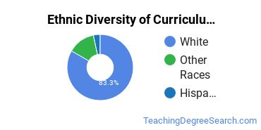 Curriculum & Instruction Majors in MT Ethnic Diversity Statistics
