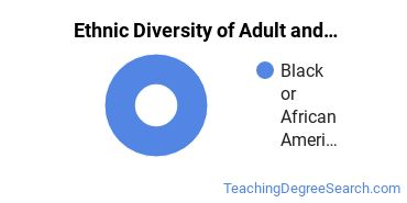 Adult Education Administration Majors in MD Ethnic Diversity Statistics