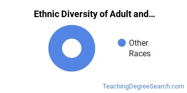 Adult Education Administration Majors in MN Ethnic Diversity Statistics