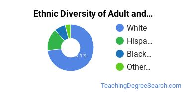Adult Education Administration Majors in WI Ethnic Diversity Statistics