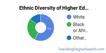 Higher Education Administration Majors in DE Ethnic Diversity Statistics