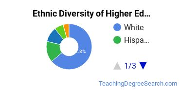 Higher Education Administration Majors in IA Ethnic Diversity Statistics