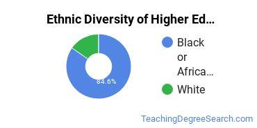 Higher Education Administration Majors in LA Ethnic Diversity Statistics