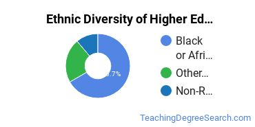 Higher Education Administration Majors in MD Ethnic Diversity Statistics