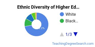 Higher Education Administration Majors in MA Ethnic Diversity Statistics