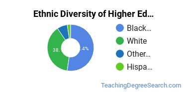 Higher Education Administration Majors in SC Ethnic Diversity Statistics