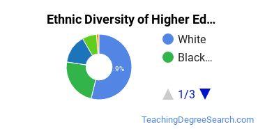 Higher Education Administration Majors in VA Ethnic Diversity Statistics