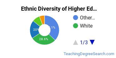 Higher Education Administration Majors in WA Ethnic Diversity Statistics