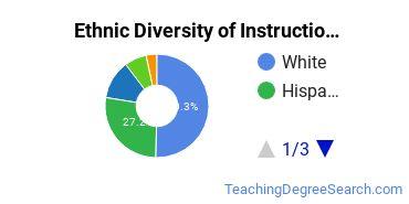 Instructional Media Design Majors in CA Ethnic Diversity Statistics