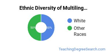 Multilingual Education Majors in AK Ethnic Diversity Statistics