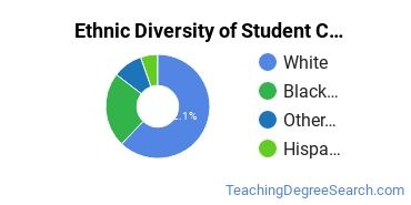 Student Counseling Majors in LA Ethnic Diversity Statistics