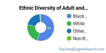 Adult & Continuing Education Majors in AL Ethnic Diversity Statistics