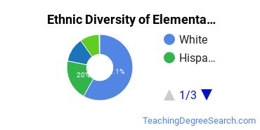 Elementary Education Majors in AZ Ethnic Diversity Statistics