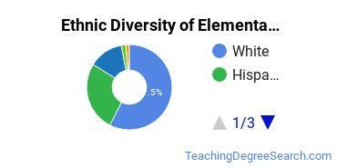Elementary Education Majors in CA Ethnic Diversity Statistics