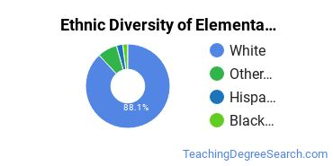 Elementary Education Majors in KY Ethnic Diversity Statistics