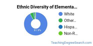 Elementary Education Majors in ME Ethnic Diversity Statistics