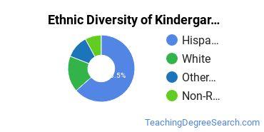 Kindergarten/Preschool Education Majors in NM Ethnic Diversity Statistics