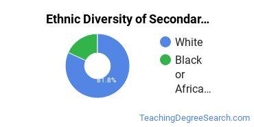 Secondary Education Majors in DE Ethnic Diversity Statistics