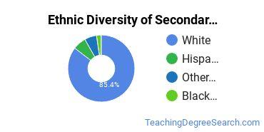 Secondary Education Majors in KS Ethnic Diversity Statistics