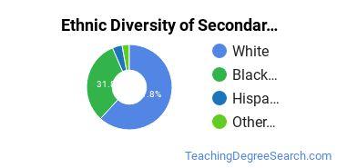 Secondary Education Majors in MS Ethnic Diversity Statistics
