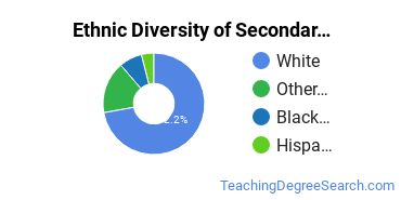 Secondary Education Majors in VA Ethnic Diversity Statistics