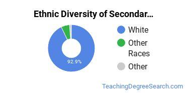 Secondary Education Majors in WV Ethnic Diversity Statistics