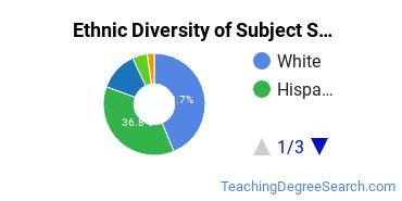 Teacher Education Subject Specific Majors in CA Ethnic Diversity Statistics