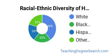 Racial-Ethnic Diversity of Health Occupations Teacher Education Students with Bachelor's Degrees