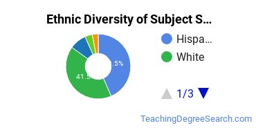 Teacher Education Subject Specific Majors in NM Ethnic Diversity Statistics