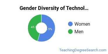Technology Education Majors in IN Gender Diversity Statistics
