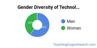 Technology Education Majors in MA Gender Diversity Statistics