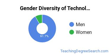 Technology Education Majors in WI Gender Diversity Statistics