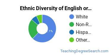 Teaching English or French Majors in VT Ethnic Diversity Statistics